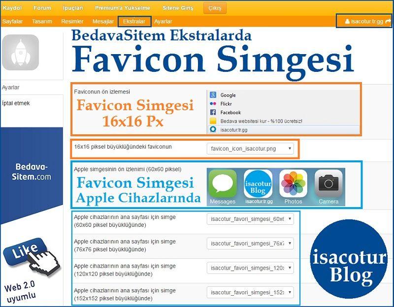 BedavaSitem kullanıcıları Favicon Nasıl Ekler