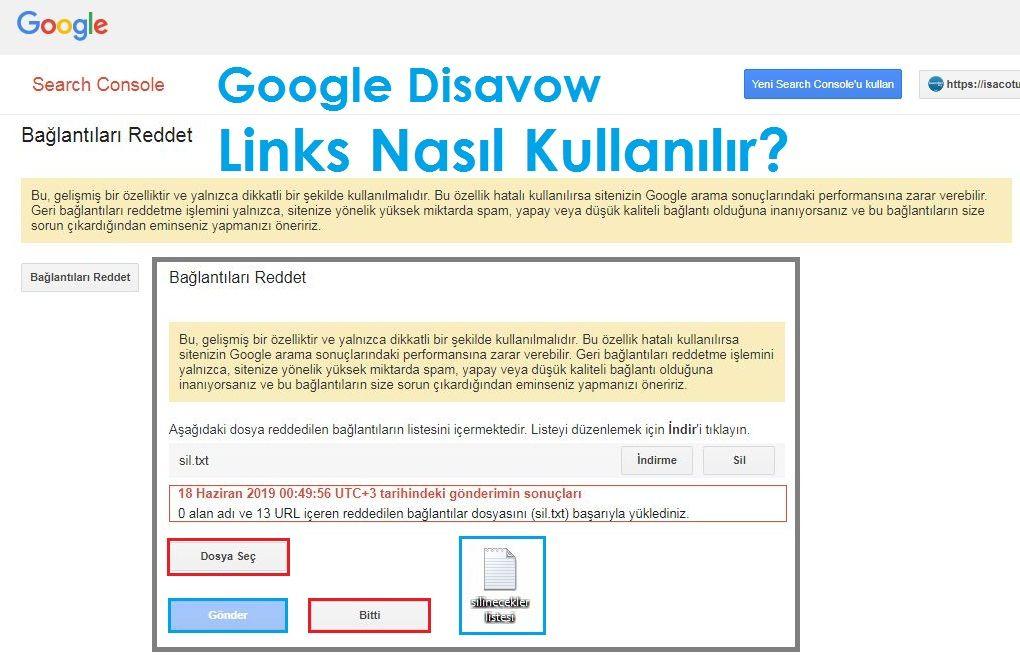 Google Webmaster Tools Disavow Links Nasıl Kullanılır?