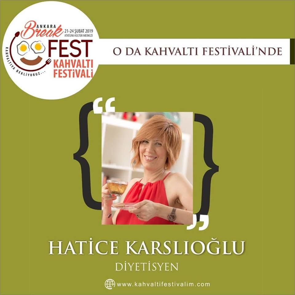 Hatice Karslıoğlu - Beslenme Uzmanı Ankara Kahvaltı Festivali Etkinlik Takvimi 21 Şubat 2019