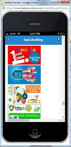 isacotur Blog Mobil Site Görünümü
