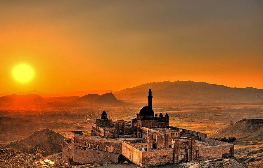 İshak Paşa Sarayı Gün Batımı Fotoğrafları,Ishak Pasha Palace Sunset Photos