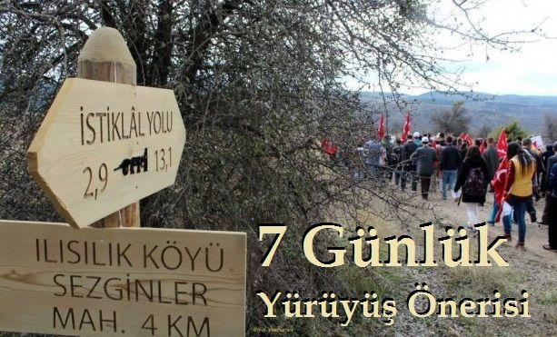 İstiklal Yolu 7 Günlük Yürüyüş Önerisi