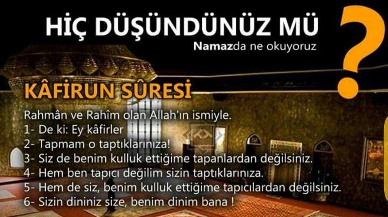 Kur'an-ı Kerim'in 4/1 Denk Gelen Kafirun Suresi