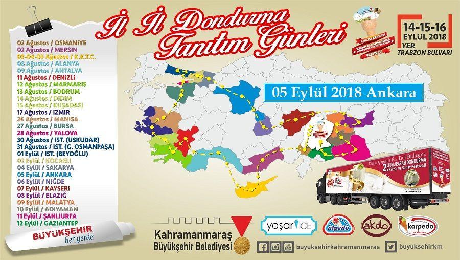 Maraş Dondurma Tırı 05 Eylül'de Ankara'da
