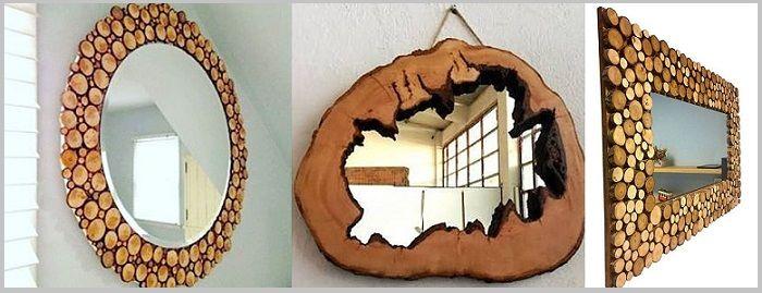 Nacizhane Tasarım Ağaç Aynalar