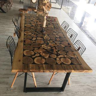 Doğal Ağaç Masa Tasarımı
