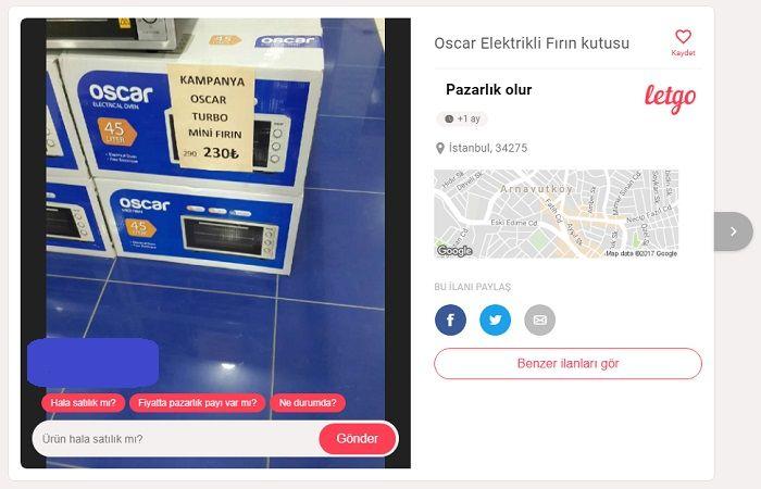 Oscar Mini Fırın Fiyatı