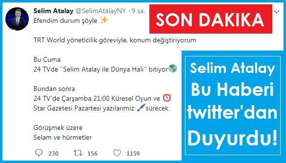 Selim Atalay Dünya Hali Twitter