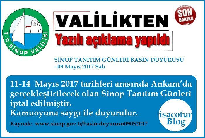Sinop Günleri Valilik Tarafından İptal Edildi