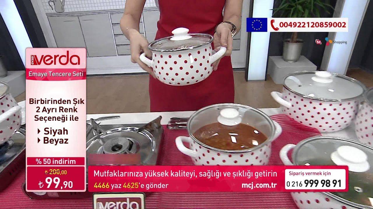 Verda Çaydanlık Takımı Avşar Emaye shoping tv