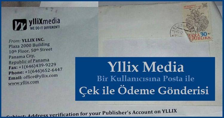 Yllix Media Reklam Çek Ödeme Dekontu