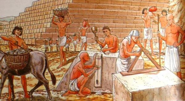 ägypten Pyramiden Bau