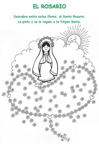 Jesús te llama - Rosario, niños hojas para imprimir y colorear