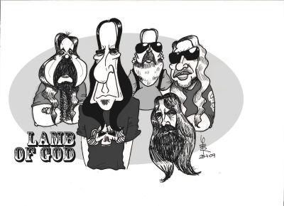 Resultado de imagem para lamb of god caricatura