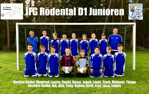 D1-Junioren der JFG Rödental der Saison 2017/18