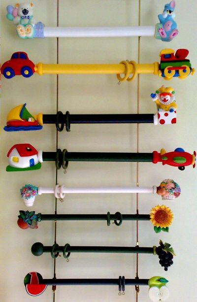 Jm cortinas y decoracion barras infantiles - Barra de madera para cortinas ...