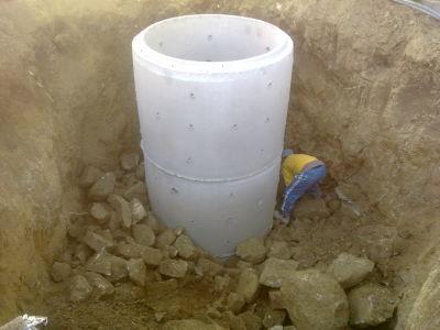 pozo de agua con anillo