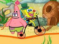 Sünger bob'un engelli bisiklet parkuru