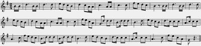 Chibreli de Louhans - Noten