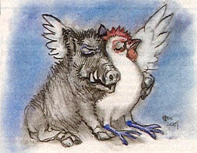Kerchemer Wutz und Bresse-Huhn