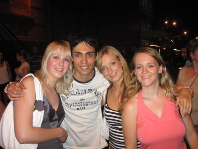 Nele, Giuseppe, ich und Sandra (v.l.)