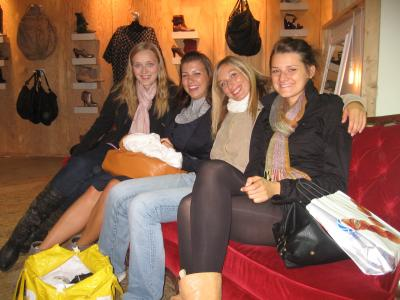 Kristina, Andrea, ich und Olga