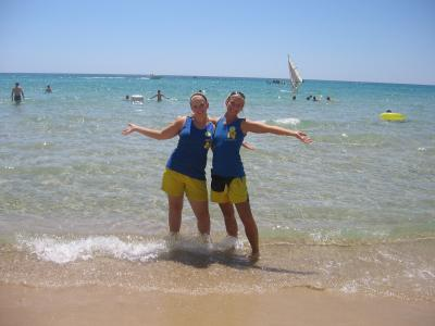 Sara und ich im Mittelmeer