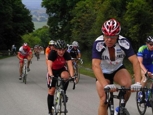 Kathi im Bergrennen