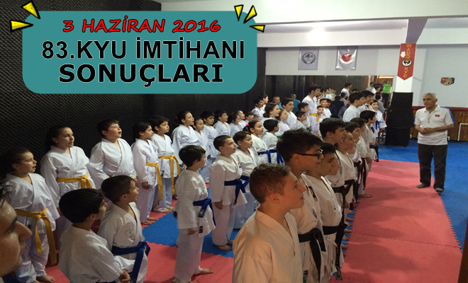Küçükköy Karate Spor Kulübü, Haziran 2016 Kyu İmtihanı Sonuçları ,İstanbul Karate , - İstanbul Karate Kulübü