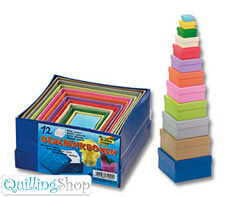QuillingShop.ru Наборы квадратных коробочек из цветного картона для квиллинга как сделать коробочку из цветной бумаги купить шкатулку, коробочка из бумаги шкатулка своими руками, квиллинг подарочные коробочки из белого картона шкатулки для рукоделия