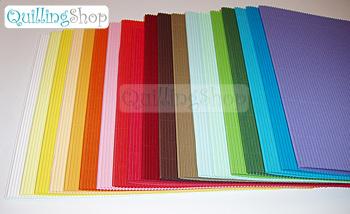 В нашем магазине QuillingShop.ru - Все для квиллинга новинка: цветной гофрокартон для квилинга в ЛИСТАХ (ширина 26см, длина 55см) листы двухслойного микрогофрокартона цветного в массе: один слой плоский, второй слой - волна. Цветной микрогорокартон в листах используется для открыток, поделок, шкатулок, панно, больших работ по технике квиллинг quilling