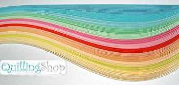 QuillingSHOP.ru: магазин для квилинга - набор разноцветных полосок для квиллинга (бумага для квиллинга): толщина полосок quilling 3 мм, количество полосок для квилинга 140 штук (14 цветов по 10 квилинговых полосок одного тона) плотность бумаги для квиллинга 160 грамм длина полосок quiling 300 мм