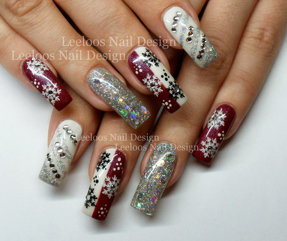 leeloos nail design winter weihnachts nails. Black Bedroom Furniture Sets. Home Design Ideas