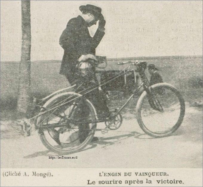 1899, motobicyclette Pernoo lors du critérium des motocyclettes Etampes-Chartres