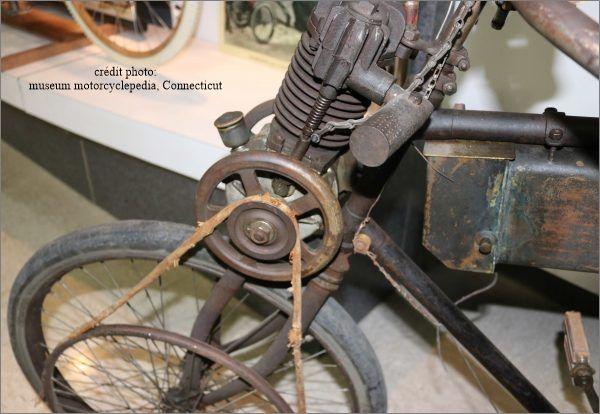 photo d'une motocyclette Werner de 1899
