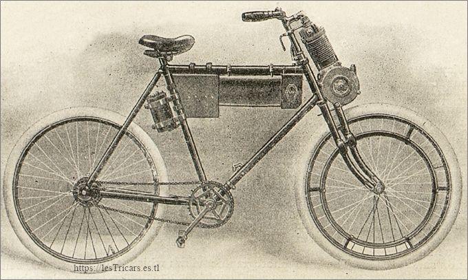 dessin de la motocyclette Werner modèle 1900