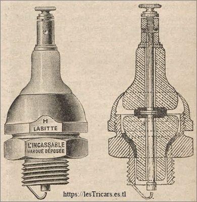 La bougie incassable brevetée par Hippolyte Labitte. Dessin