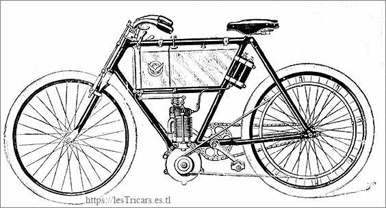 motocyclette Werner, dessin du modèle 1902
