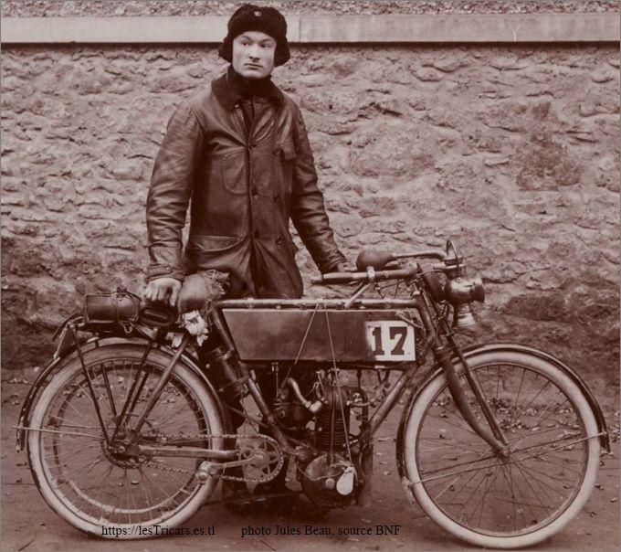 Gaston Doué au Concours d'endurance de 1000 kilomètres du Motocycle Club de France, 1903