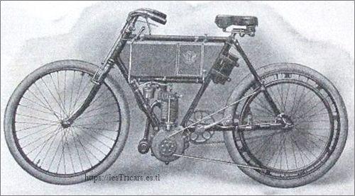 moto Werner 1903 type Touriste 2HP