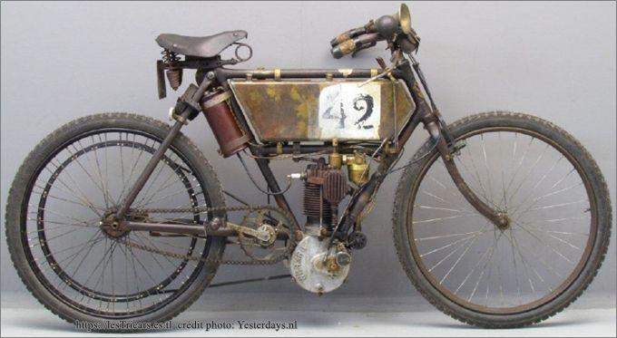 motocyclette Werner type course Paris-Vienne, modèle 1903, photo