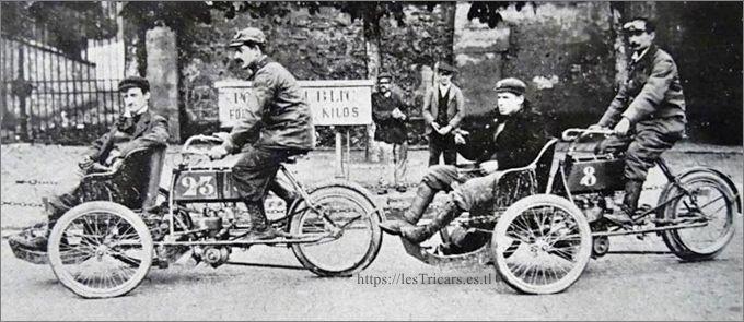 tricars Werner 1905, Bauduret et Bonnard au concours des tricars