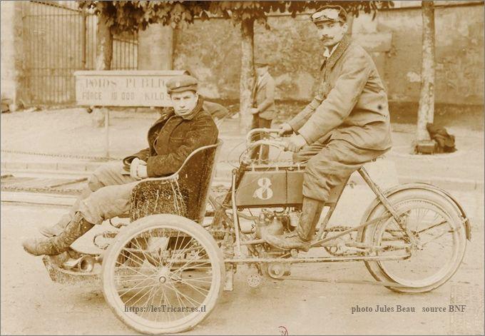 Bonnard sur tricar Werner 1905
