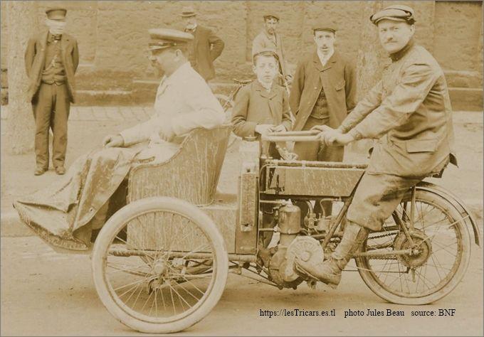 Domptet junior sur tricar Domptet (=Contal), Concours des tricars 1905