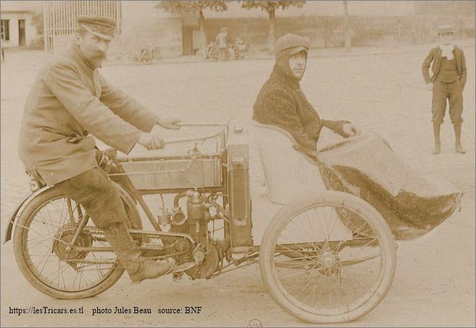 Rivierre sur mototri Contal, Concours des tricars 1905