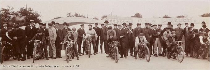 ligne de départ critérium 1905