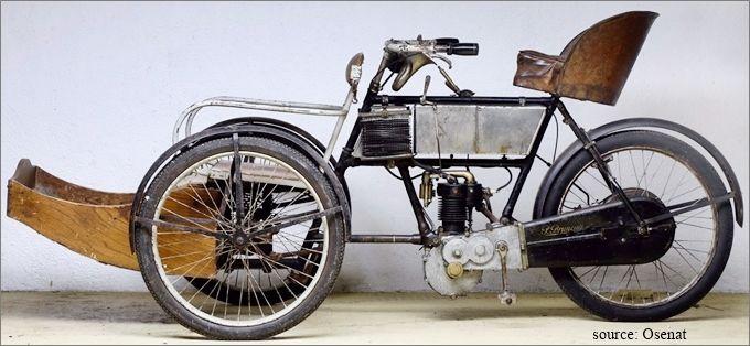 tricar Bruneau 1905, photo moderne