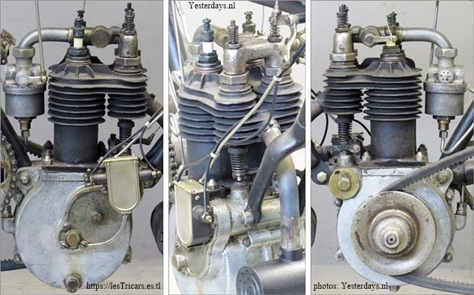 Photos du moteur Werner à deux cylindres, 1905