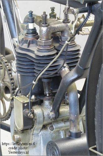 le moteur bicylindrique Werner, 1905