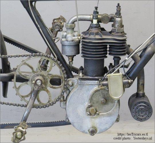 Michel et Eugène Werner, moteur bicylindre, 1905